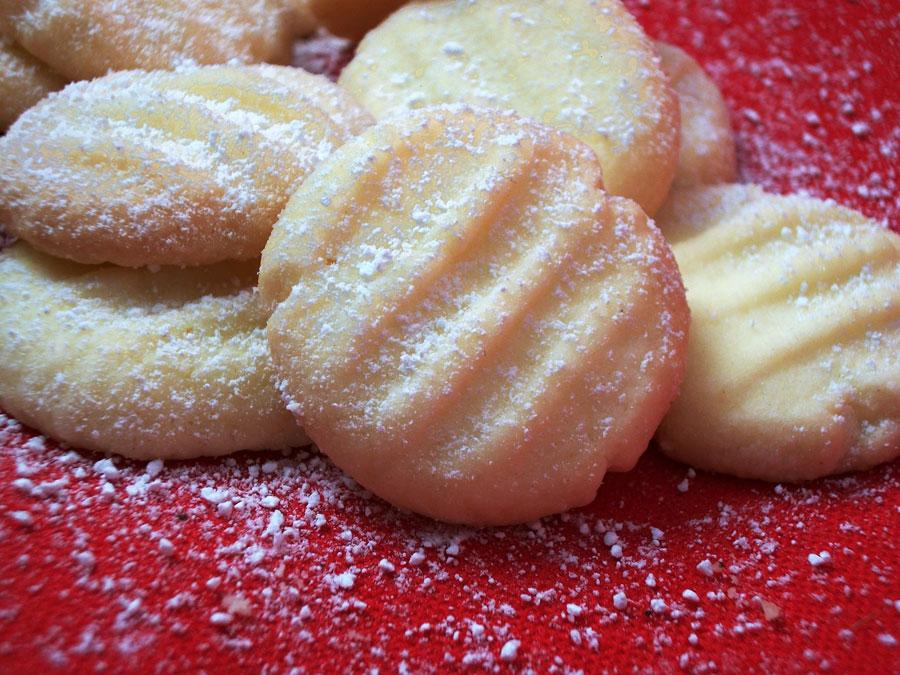 Schneeflöckchen Weihnachtsplätzchen
