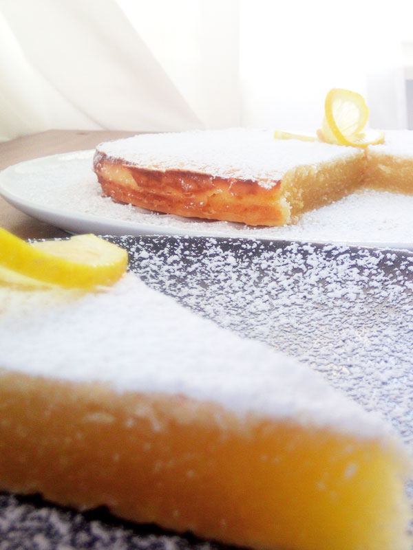 Saftiger Citronkladdkaka, ein schwedischer Zitronenkuchen