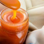 Delicious Salted Caramel Sauce in a jar -Flockelicious